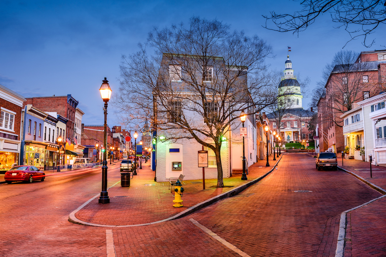Where in Annapolis picture of Main Street